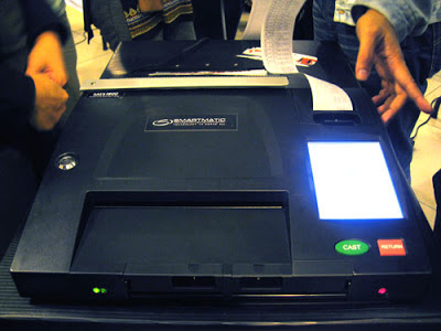 Smartmatic PCOS machine (Comrade Mijur / Technically Juris on Blogspot)