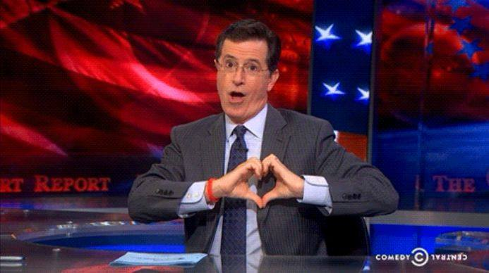"""FAREWELL REPORT Stephen Colbert signs off as the political pundit hosting """"The Colbert Report"""" after nine seasons. (Facebook photo)"""