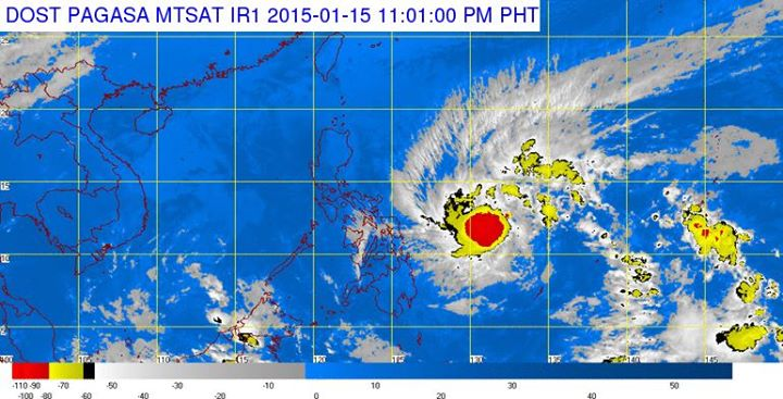 "Tropical Storm ""Amang"" (Satellitel image from the Facebook page of DOST-PAGASA)"