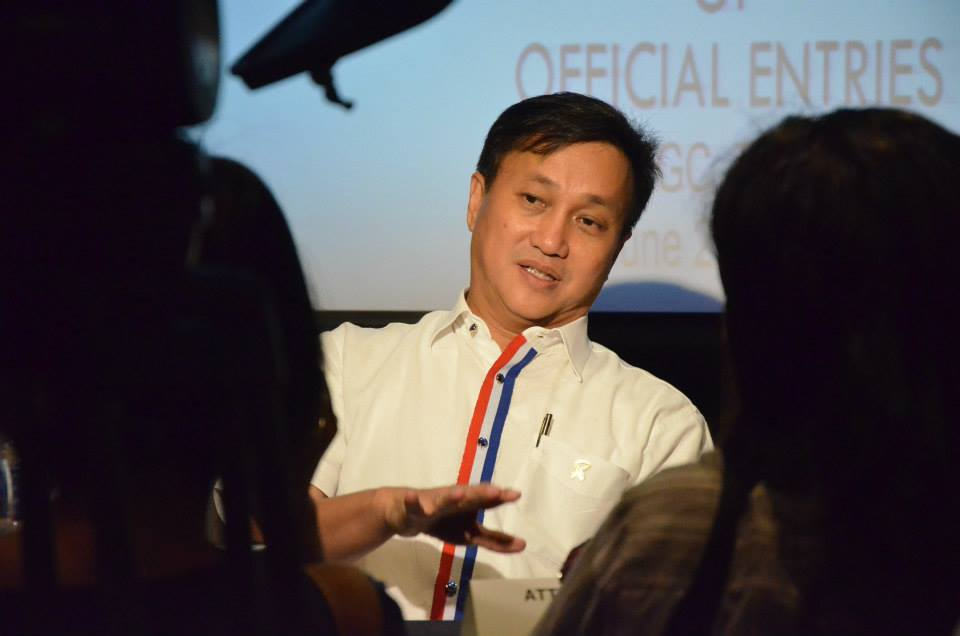 MMDA Chairman Francis Tolentino during the MMFF 2014 Selection and Announcement of Official Entries at Seda Hotel, Bonifacio Global City (Facebook photo)