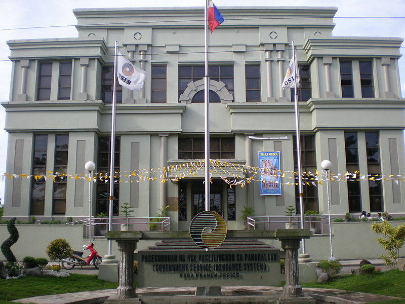 GSIS building in Naga City (Wikimedia Commons)
