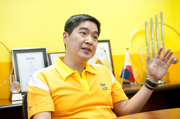 Lance Gokongwei, president and chief operating officer of Cebu Pacific (photo courtesy of Flight Global)