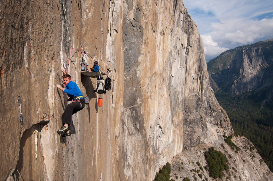 Tommy Caldwell and Kevin Jorgeson climbing El Capitan at Yosimite National Park, California (Photo courtesy of Tommy Caldwell's Facebook page)