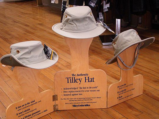 Authentic Alex Tilley hats (Photo courtesy of mansoursstore.com)