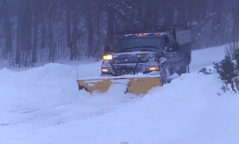 Blizzard hits Andover, Massachussetts (screengrab from AP footage)