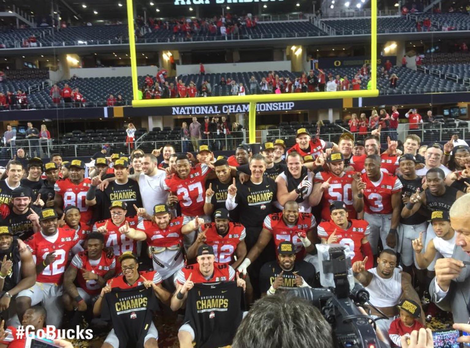 Your 2014 champions: Ohio State University Buckeyes (Facebook photo)