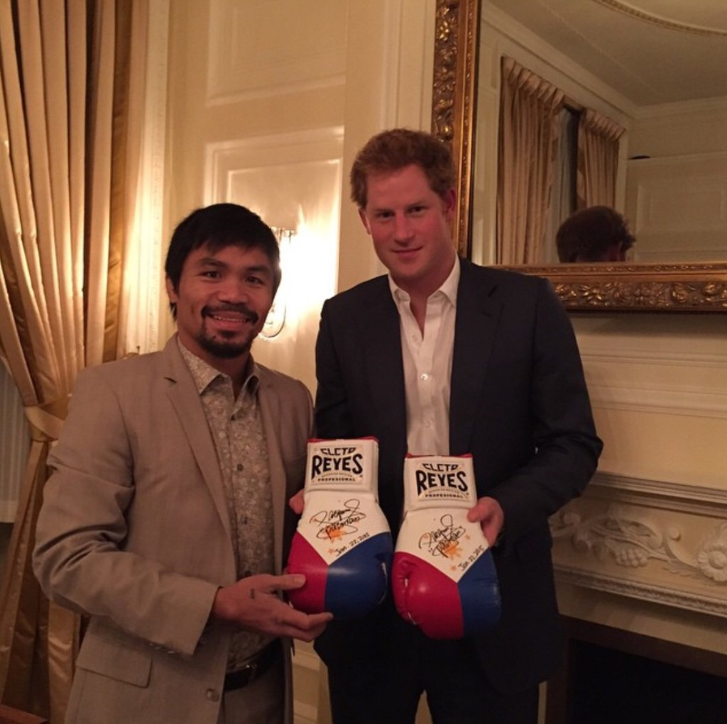 Manny Pacquiao with Prince Harry (Photo courtesy of @emmanuelpacquiao on Instagram)