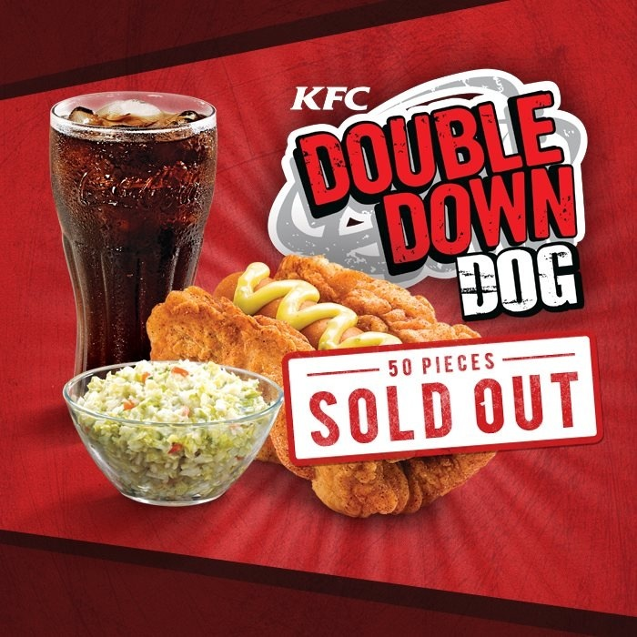 Kfc Continues To Insist That Chicken Is Bread With Double Down Dog