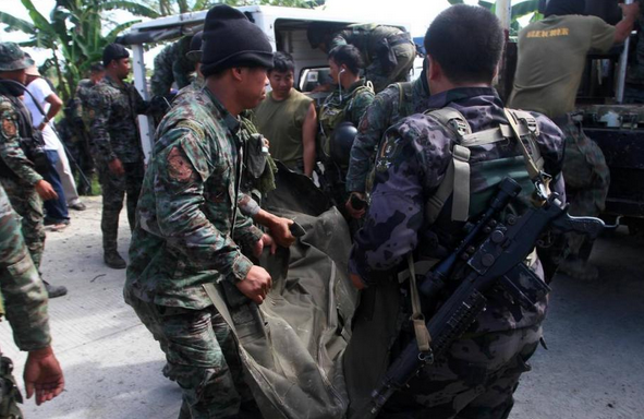 "At least 43 commandos were killed in a ""misencounter"" between militants and government forces in Maguindanao on Sunday, January 25 (screenshot from Reuters footage)"