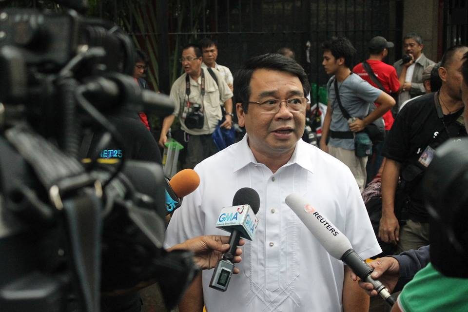 Bayan Muna Rep. Neri Colmenares (Facebook photo)