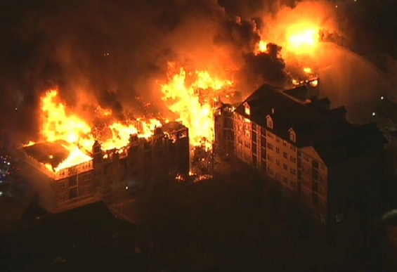 New Jersey apartment fire (screenshot from NBC footage)