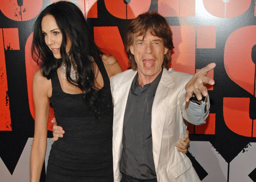 L'Wren Scott, Mick Jagger at SHINE A LIGHT Premiere, Clearview's Ziegfeld Theater, New York, NY, March 30, 2008 (Everett Collection / Shutterstock)
