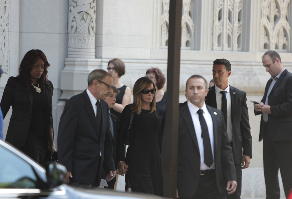 NEW YORK CITY - the funeral of comedienne Joan Rivers took place at Temple Emanu-El on Manhattan Upper East Side on Sept 7, 2014, with many celebrities in film, TV & fashion attending (A Katz / Shutterstock)