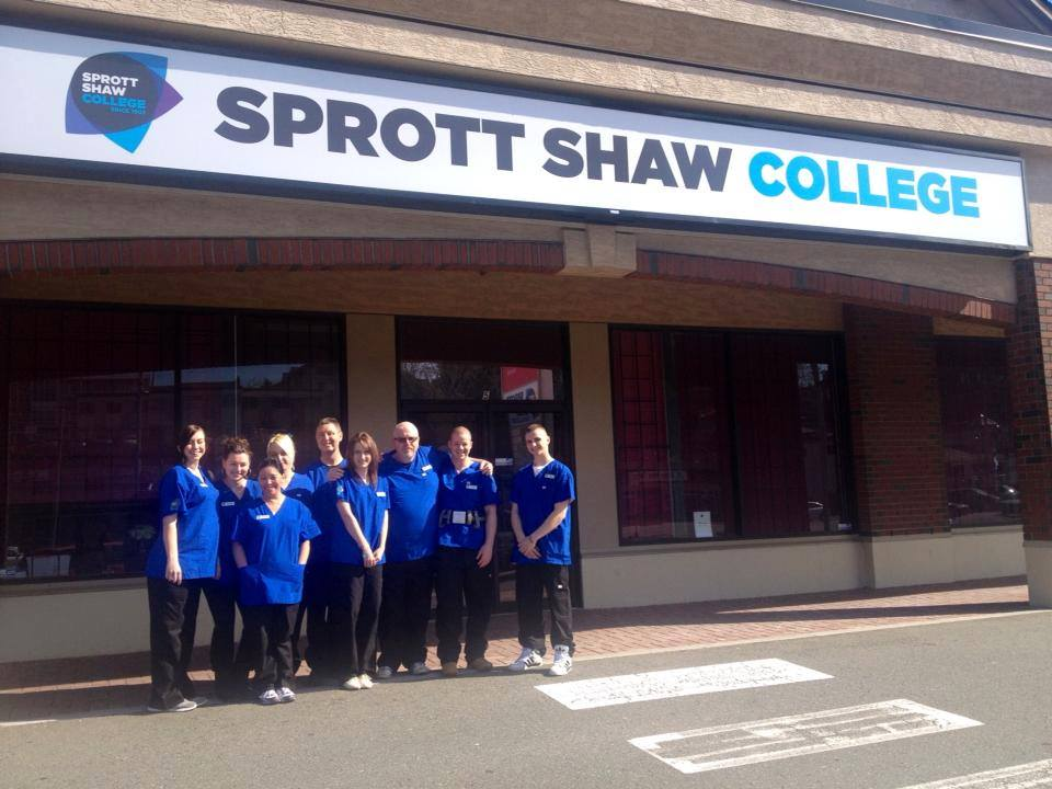 Nanaimo Health Care Assistant students take a quick break from their studies for a class photo (Sprott Shaw College Facebook page)