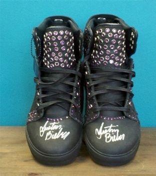 Justin Bieber's shoes