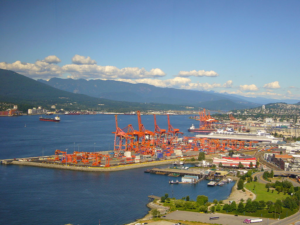 Port of Vancouver. Wikimedia Commons.