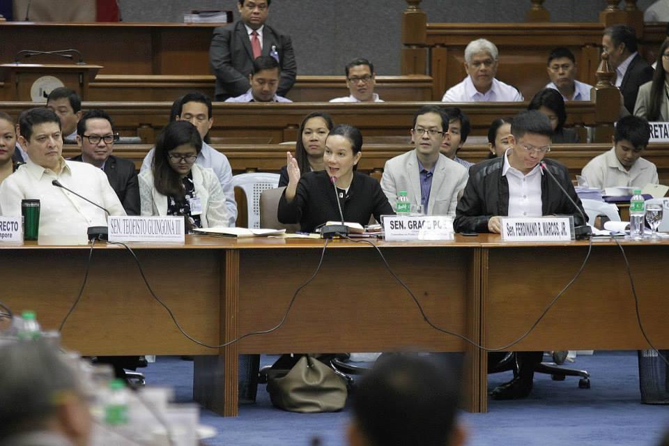 Senate hearing on the Mamasapano clash (Photo courtesy of Sen. Grace Poe's Facebook page)
