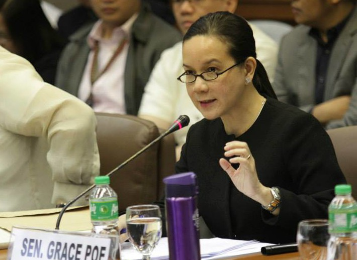 Sen. Grace Poe at the Senate hearing on the Mamasapano clash (Photo courtesy of Sen. Grace Poe's Facebook page)