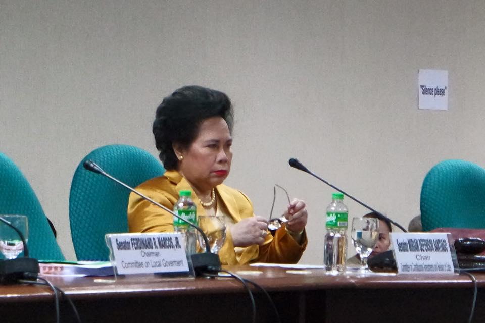 Sen. Miriam Defensor-Santiago (Facebook photo)