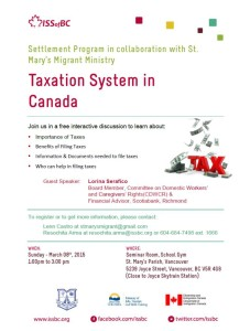 Taxation System in Canada- 08Mar2015- Vancouver- RA