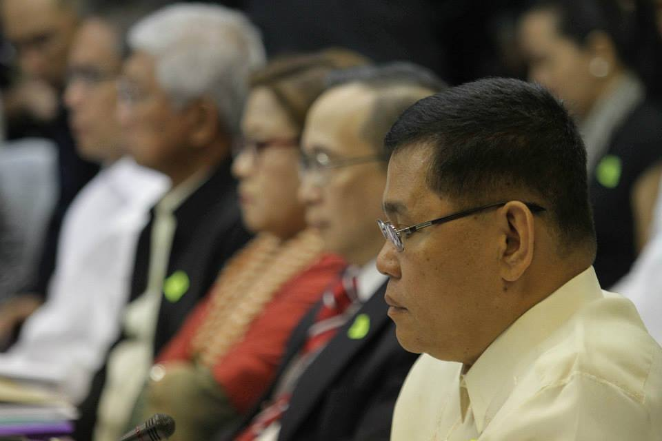 Resigned PNP Chief Alan Purisima (foreground) (Photo courtesy of Sen. Grace Poe's Facebook page)