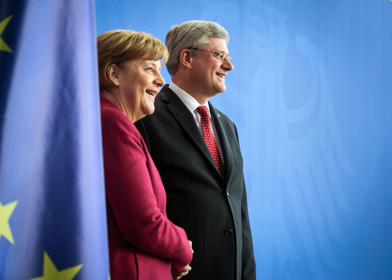 Germany Chancellor Angela Merkel and Canadian Prime Minister Stephen Harper (www.pm.gc.ca)