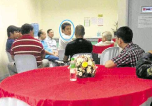 Senator and actor Ramon 'Bong' Revilla Jr. (encircled) at Sen. Juan Ponce Enrile's recent birthday party. (Contributed photo)