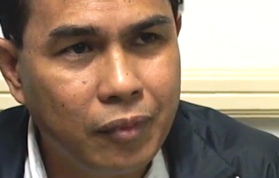 Former Police Sr. Supt. Cezar Mancao II (screenshot from ABS-CBN News footage)