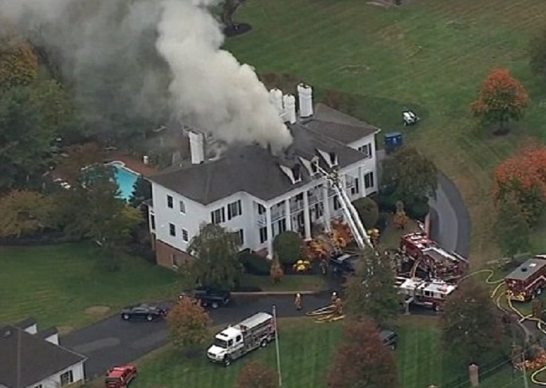Clairemont mansion in New Hope, PA (screenshot from KWLI footage)