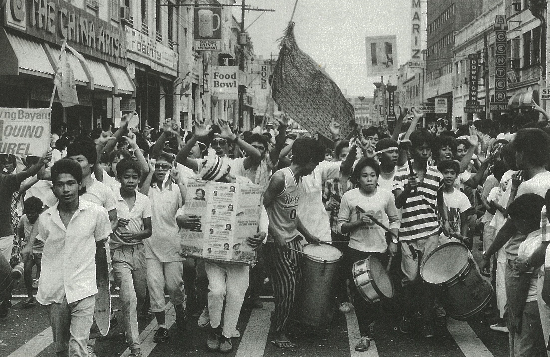 People marching during the EDSA People Power in 1986 (Photo courtesy of the Official Gazette of the Philippines)