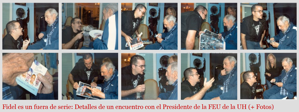 Website Cuba Debate publishes photos of Fidel Castro after months of silence (screenshot)