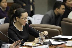 Sen. Grace Poe heads the Senate hearing on the Mamasapano clash (Facebook photo)