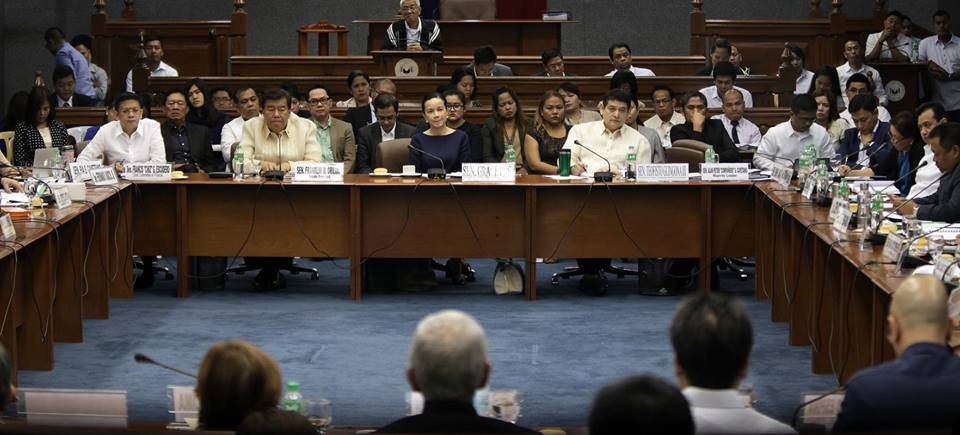 Senate hearing on the Mamasapano clash (Chiz Escudero Facebook page)
