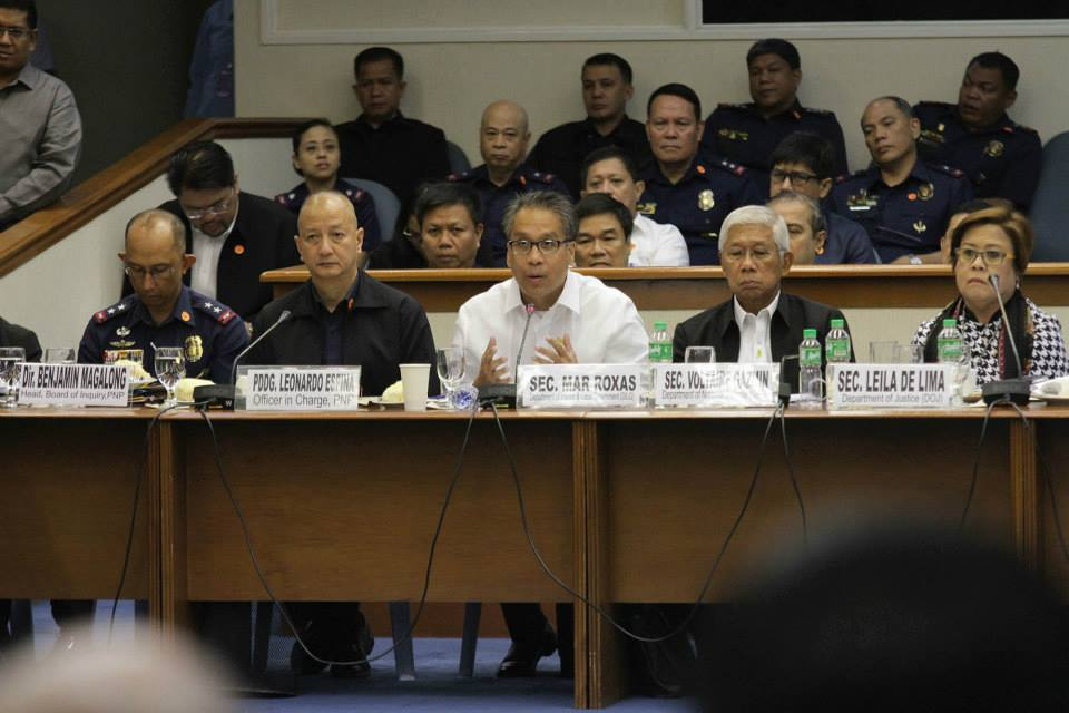 Senate hearing on the Mamasapano clash (Photo courtesy of Sen. Grace Poe's Facebook page)
