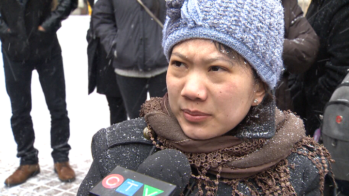 Filipina temporary foreign worker Maria Victoria Venancio (screenshot from CTV News footage)