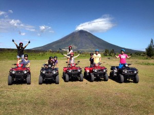 Tour the area of the majestic Mayon Volcano on an ATV (Photo courtesy of www.mayonatvtour.com)