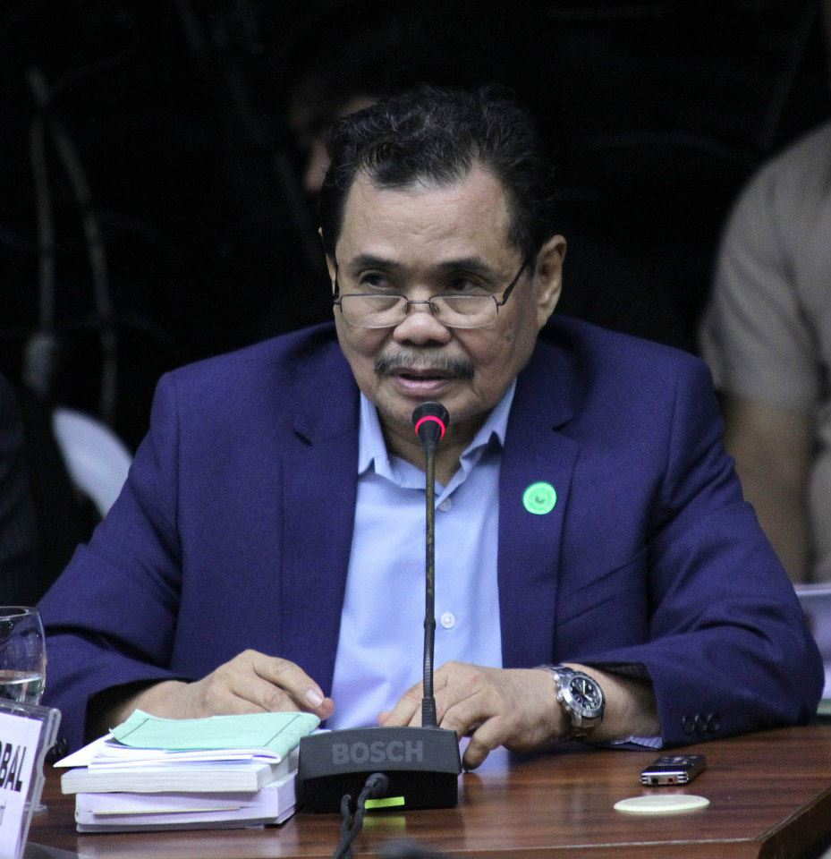 MILF Chief Peace Negotiator Mohagher Iqbal at Thursday's (Feb 12, 2015) Senate hearing on the Mamasapano clash (Photo courtesy of Sen. Grace Poe's Facebook page)