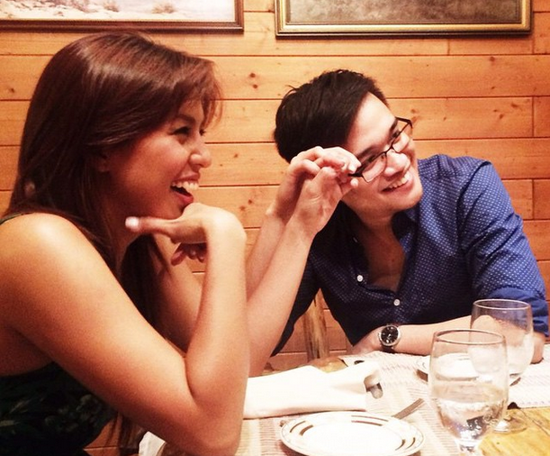 Nikki Gil with businessman fiance BJ Albert (Nikki Gil on Instagram)