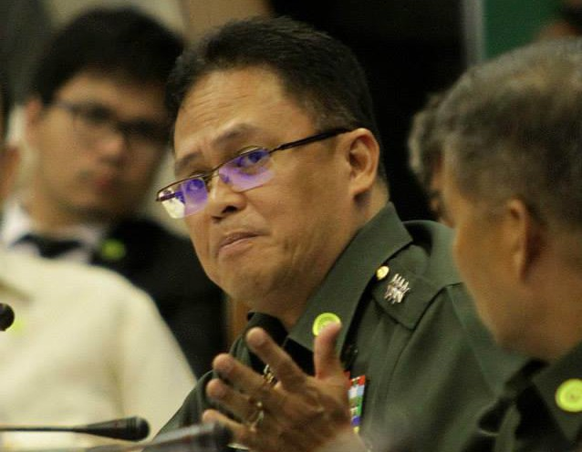 AFP Chief-of-Staff Gregorio Pio Catapang at the Senate hearing on the Mamasapano clash (Photo courtesy of Sen. Grace Poe's Facebook page)