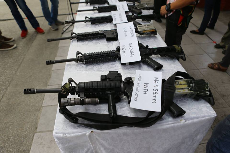 Turn-Over Ceremony of the 16 surrendered SAF firearms on Thursday, February 19 at Camp Aguinaldo. (PNP-PIO)