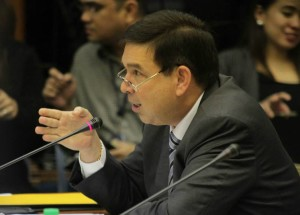 Sen. Ralph Recto at the Senate hearing on the Mamasapano clash (Photo courtesy of Sen. Grace Poe's Facebook page)