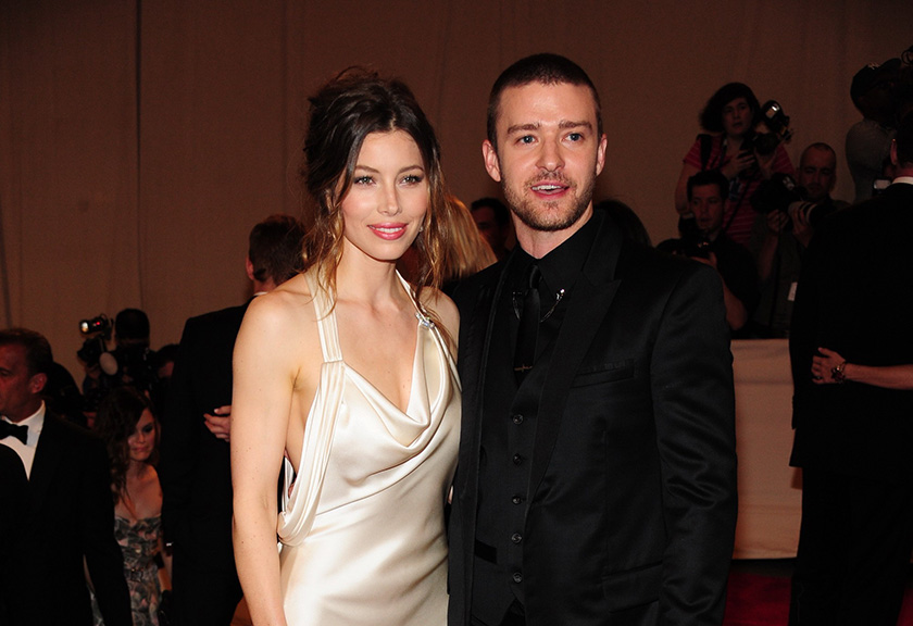 Jessica Biel and Justin Timberlake at American Woman: Fashioning National Identity Co-Hosted by GAP, Costume Institute, Metropolitan Museum of Art. Everett Collection / Shutterstock.com.