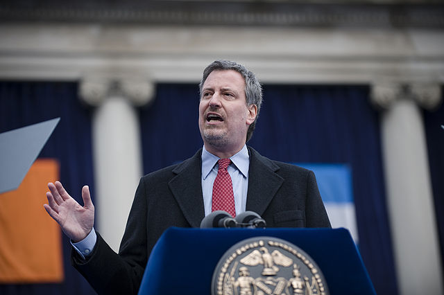 Mayor Bill de Blasio. Public Advocate for the City of New York / Flickr.
