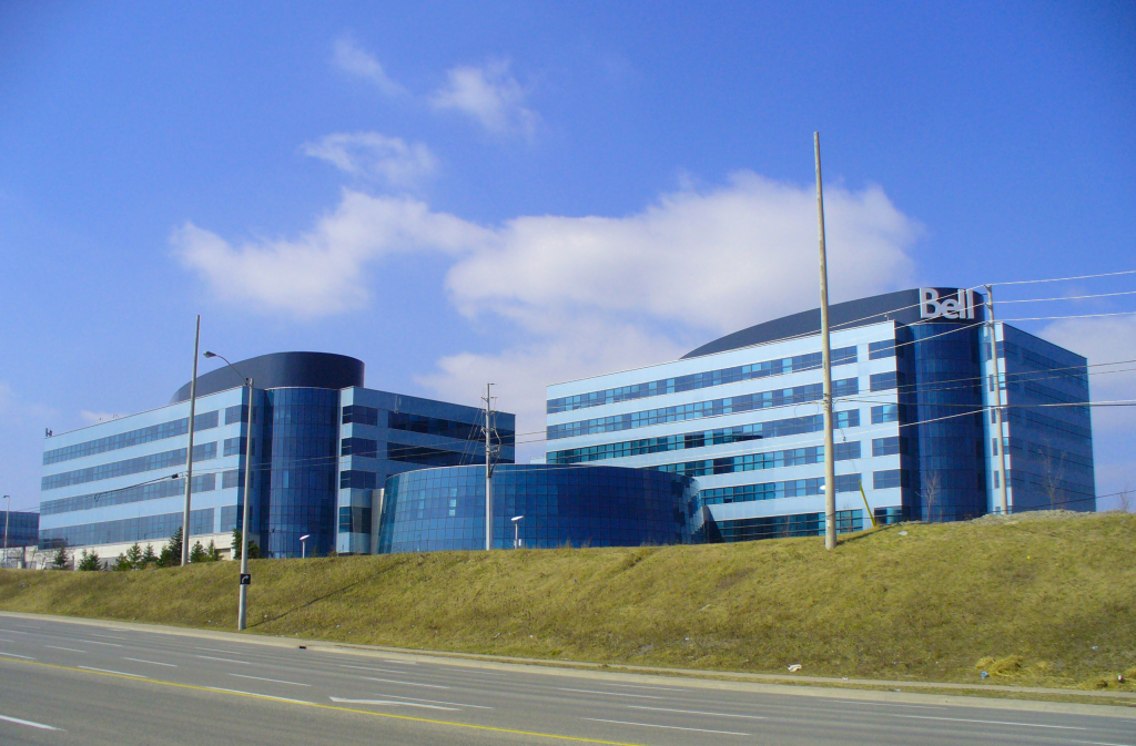 Bell Mobility Headquarters in Mississauga, Ontario (Wikipedia photo)