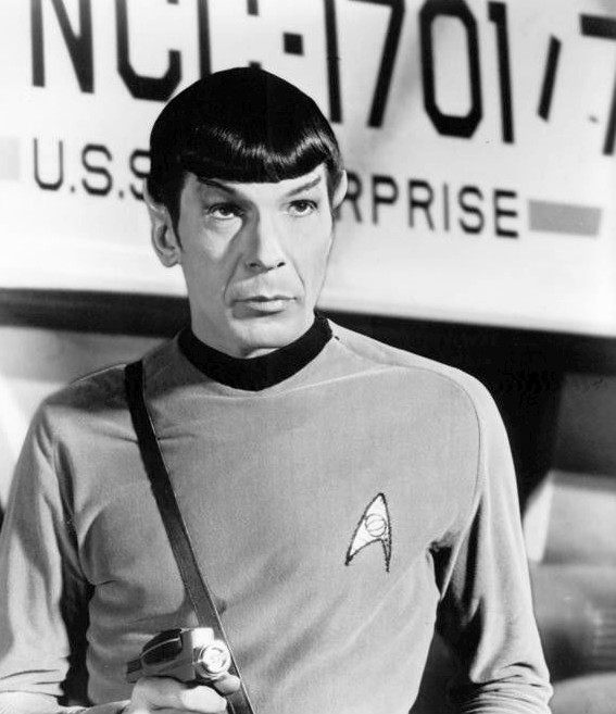 Leonard Nimoy as Mr. Spock from the original Star Trek series. Desilu Productions / NBC Television.