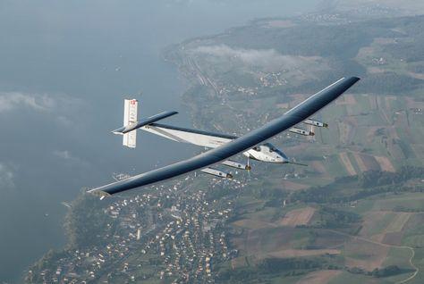 Solar Impulse plane powered by solar energy (Photo courtesy of Arabian Business website)
