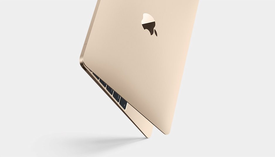 The new 12-inch MacBook with retina display is 24% thinner than MacBook Air and now comes in gold, silver, and space grey. (Apple website photo)