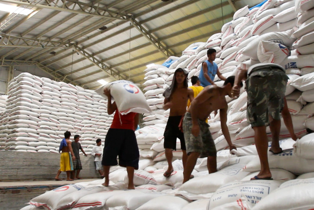 Imported rice warehouse (Photo courtesy of marketplace.org)