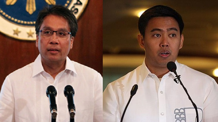 DILG Sec. Mar Roxas (left) and Makati Mayor Jejomar 'JunJun' Binay Jr.