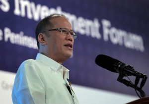 President Benigno Aquino III at the Philippines Investment Forum, 24 March 2015 (Photo by Gil Nartea / Malacañang Photo Bureau)